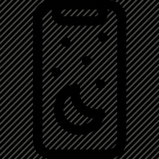 device, iphone, mobile, night, sleep, x icon