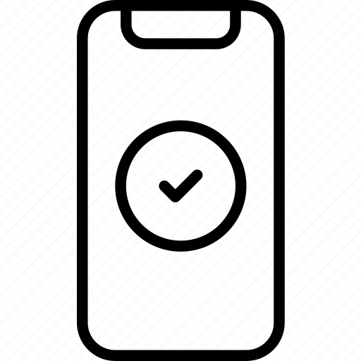 check, device, done, iphone, mobile, x icon