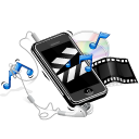 apple, earphone, iphone, multimedia, music, note, video icon