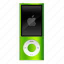 apple, extra, green, ipod, nano icon