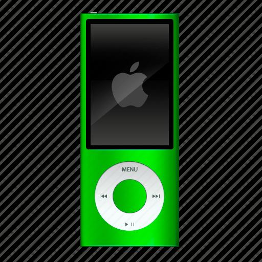 apple, green, ipod, nano icon
