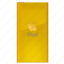 back, design, ipod, player, side icon