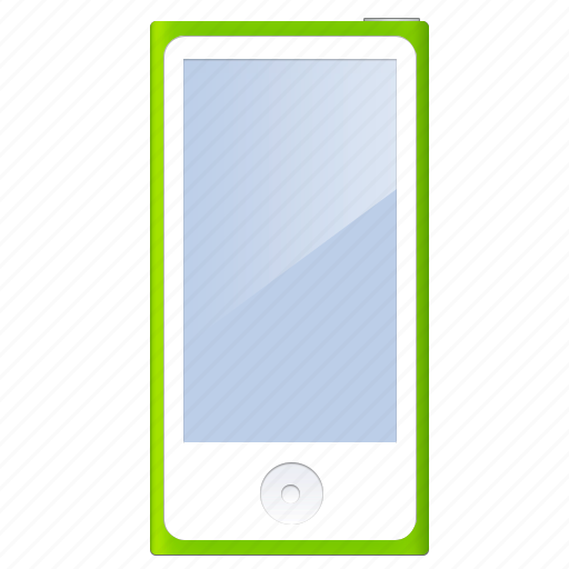 extra, green, ipod, modern, player icon