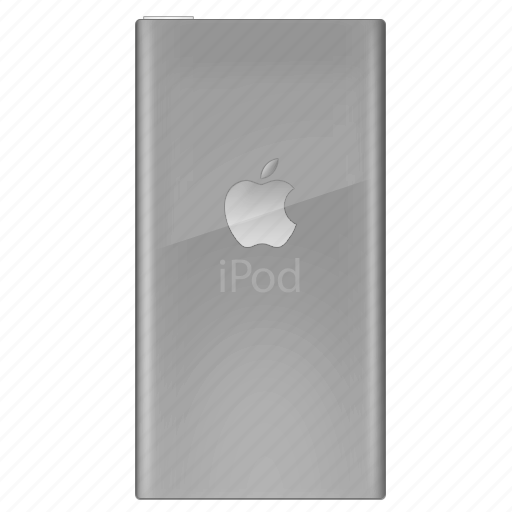 back, gray, ipod, side icon