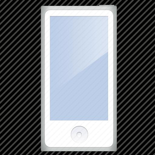 gray, ipod, player icon