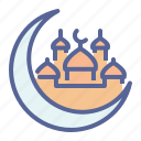 crescent, islam, moon, mosque