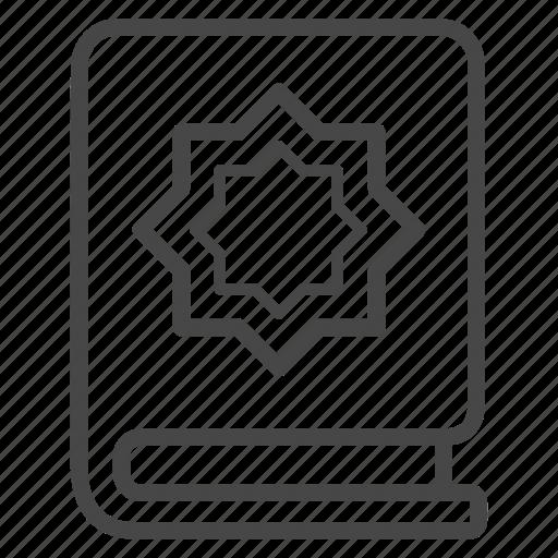 book, holy, islam, islamic, koran, quran, religion icon