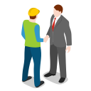 businessman, human, people, person, standing, warehouse icon