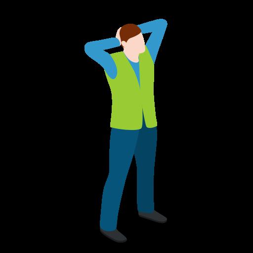 Male, man, standing, warehouse, warehouseman icon - Free download