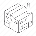 building, business, factory, house, industry, isometric, real estate