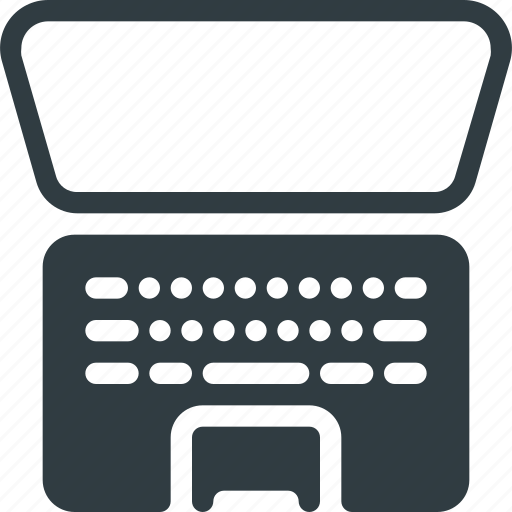 attache, keyboard, laptop, mobile, tablet icon