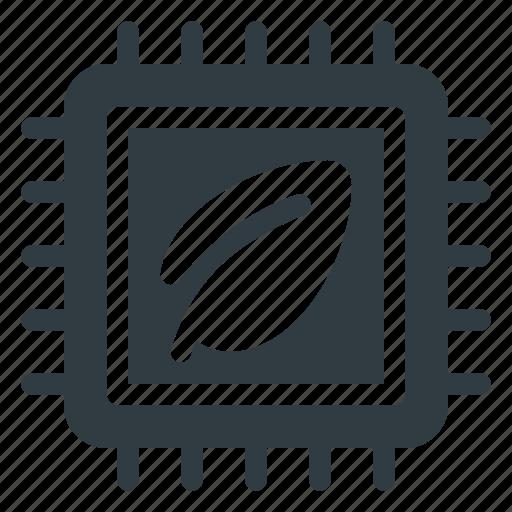 chip, cpu, eco, microchip, processor icon