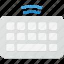 human, interface, keyboard, wireless icon