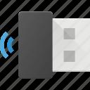 antena, mini, usb, wireles icon