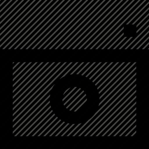 camera, device, dslr, line, minimal icon