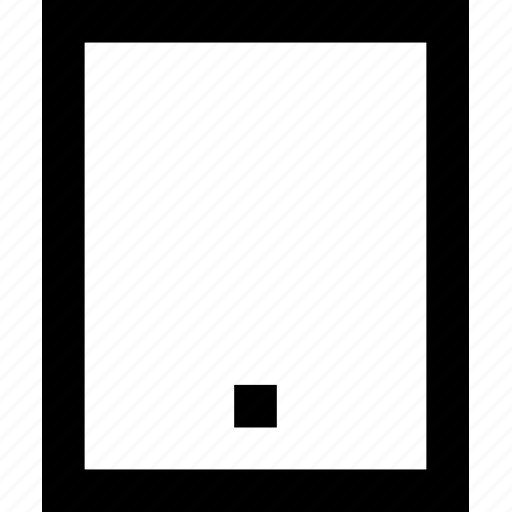 device, ipad, line, minimal, pad icon