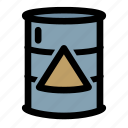 barrel, charge, electricity, energy, gas, gasoline, power icon