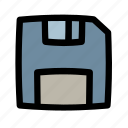data, disk, diskette, document, file, floppy, save icon