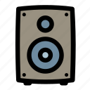 audio, media, multimedia, music, sound, speaker, volume icon