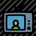 display, entertainment, media, news, television, tv, tv set icon