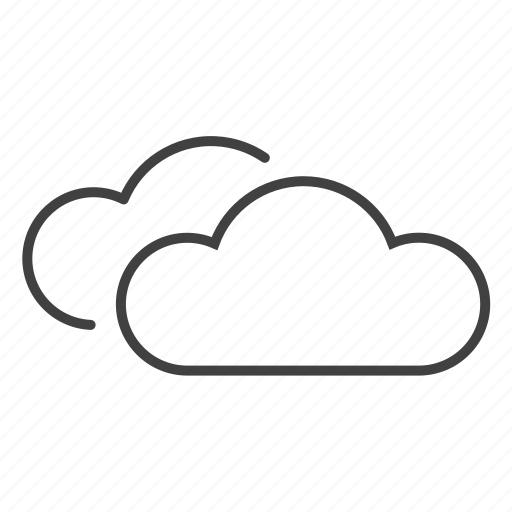 clouds, cumlus, sky, weather icon