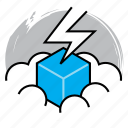 cloud, cloud computing, computing, data, power, server, solution icon