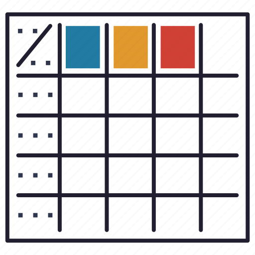 datatable, grid, interface, matrix, table icon