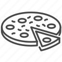 food, italian, italy, meal, pizza icon