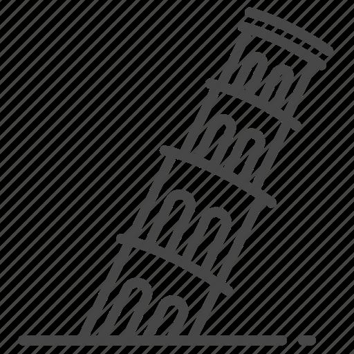 architecture, italian, italy, landmarks, torre pendente di pisa, tower of pisa, travel icon