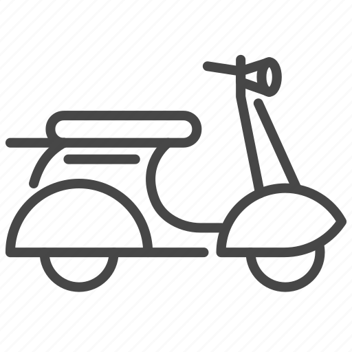 italian, italy, motocycle, transport, travel, vehicle, vespa icon