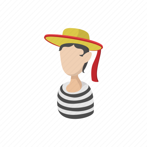 cartoon, comedy, face, france, hat, mime, mimic icon