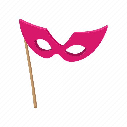 carnival, cartoon, costume, festival, italy, mask, pink icon