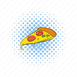 comics, dinner, fast, food, lunch, pizza, slice icon