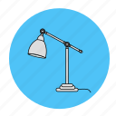desk, lamp, light, room icon