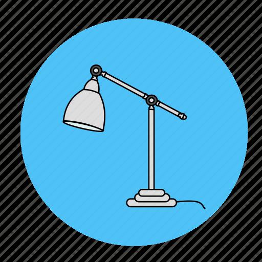 desk, lamp, light, room icon