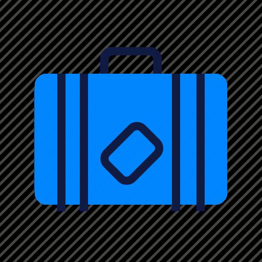 holiday, journey, suitcase, travel icon
