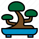 bonsai, japanese, planting, small, tray, tree icon