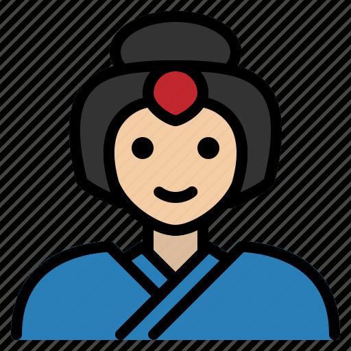 dance, entertainer, female, geisha, hostess, japanese, traditional icon
