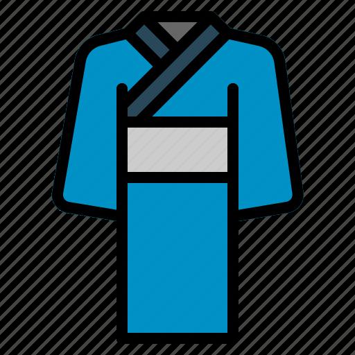 cloth, garment, japanese, kimono, lady, sleeves, traditional icon