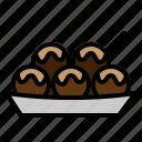 ball, food, japanese, octopus, osaka, street, takoyaki icon