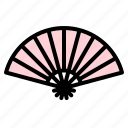 airflow, cooling, fan, folding, handheld, japanese, traditional icon