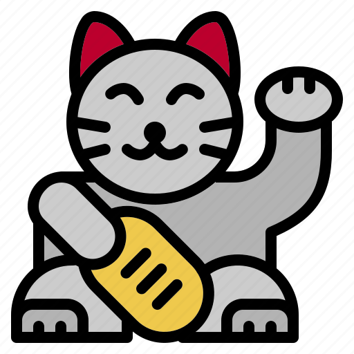 beckoning, cat, chinese, japanese, lucky, maneki, neko icon