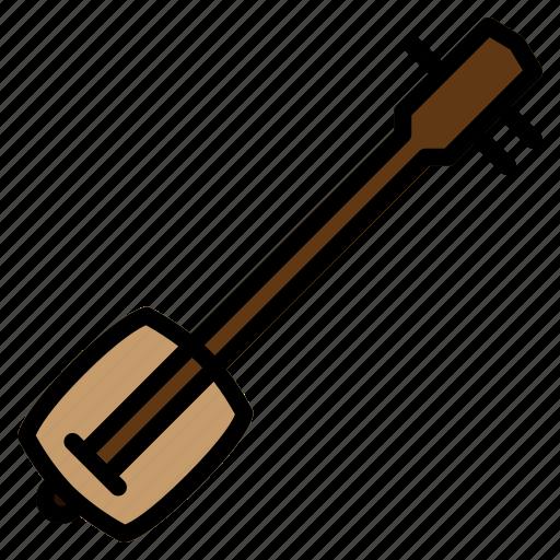 instrument, japanese, musical, shamisen, shamizen, stringed, traditional icon