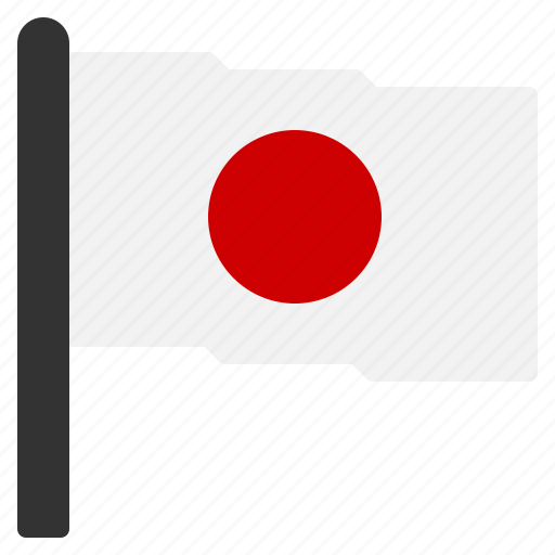 circle, country, flag, japan, red, white icon