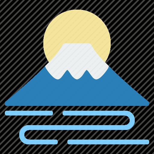 fuji, japan, landmark, mountain, scenery, tokyo, travel icon