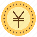 coin, currency, exchange, japan, japanese, money, yen icon