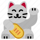 beckoning, cat, chinese, japanese, lucky, maneki, neko icon