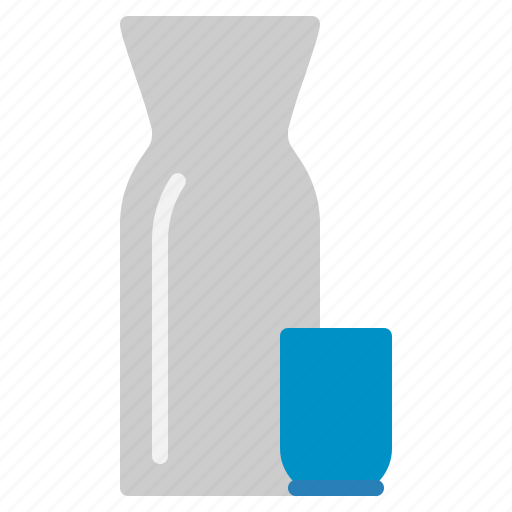 alcohol, bottle, drink, japanese, rice, sake, wine icon