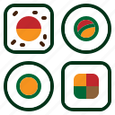 japanese, makisushi, norimaki, rice, roll, seaweed, sushi icon