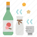 alcohol, beverage, drinking, japanese, sake icon